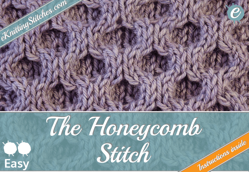 Honeycomb Cable stitch example & Title Slide for