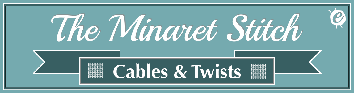 The Minaret Stitch Banner Title