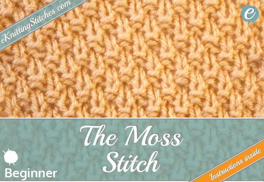 Moss stitch example & Title Slide for