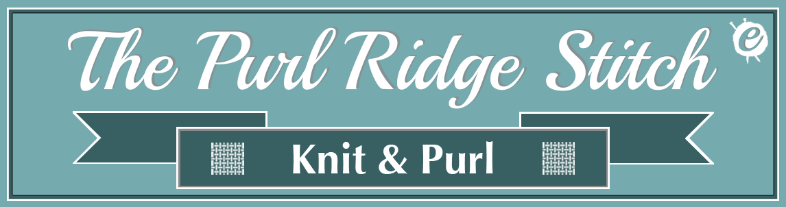 The Purl Ridge Stitch Banner Title