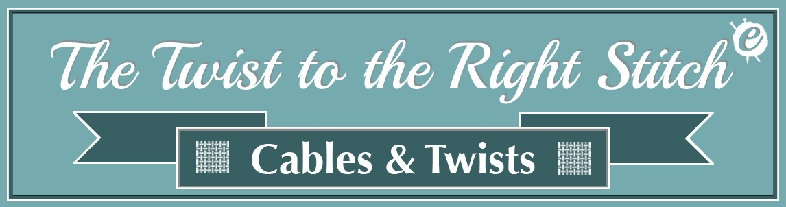 The Twist to the Right Stitch Banner Title