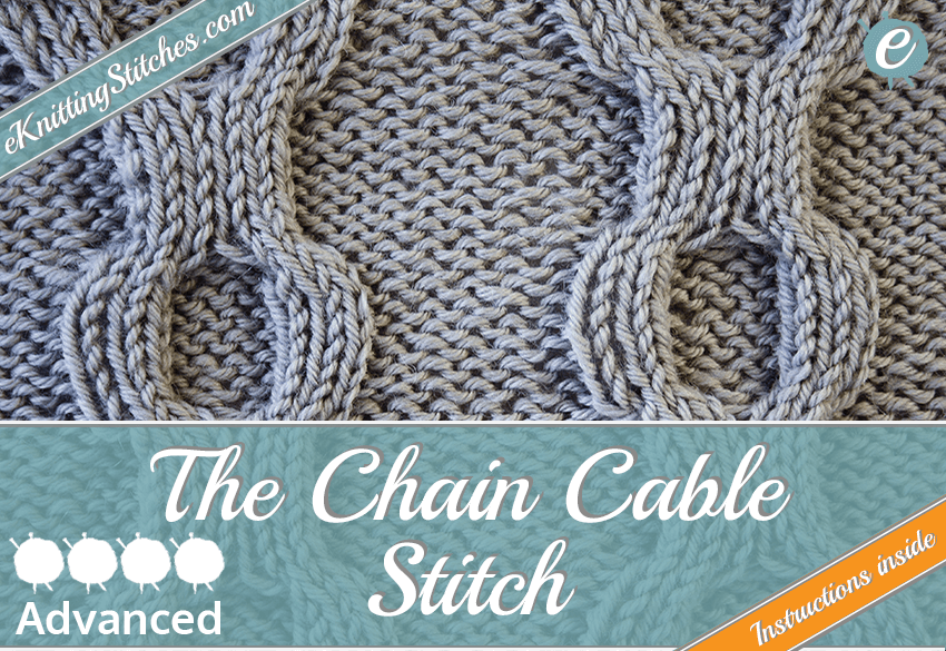 Chain Cable stitch example & Title Slide for