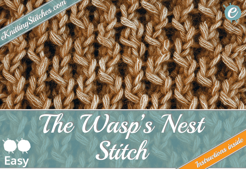 Wasp's Nest stitch example & Title Slide for