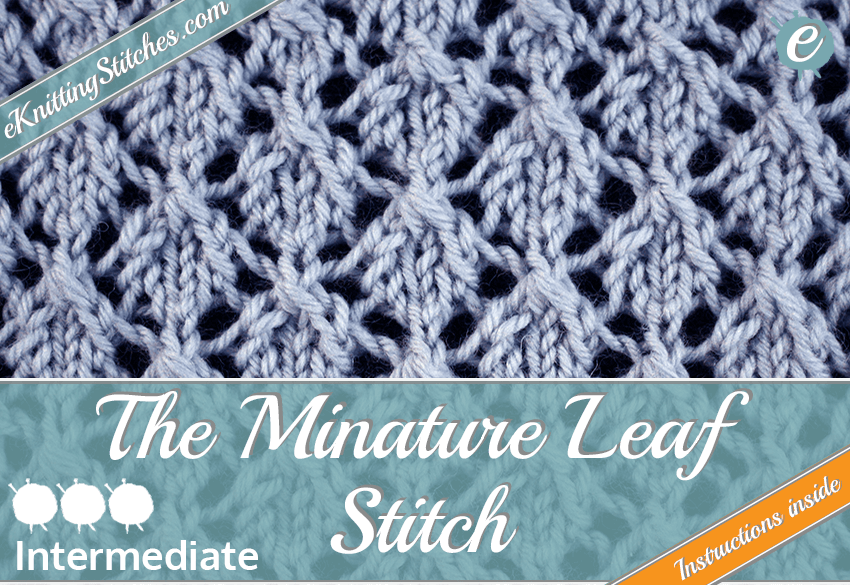 Minature Leaf stitch example & Title Slide for