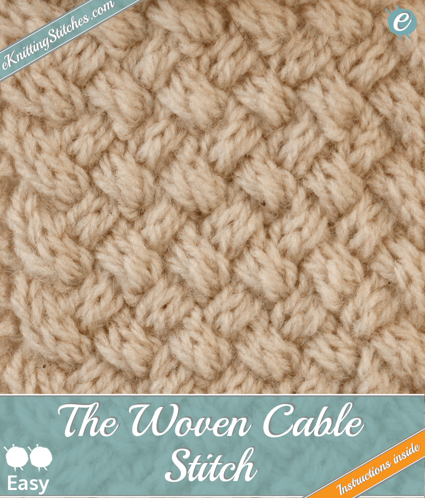 Woven Cable stitch example & title slide for
