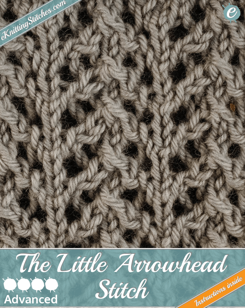 Little Arrowhead stitch example & title slide for