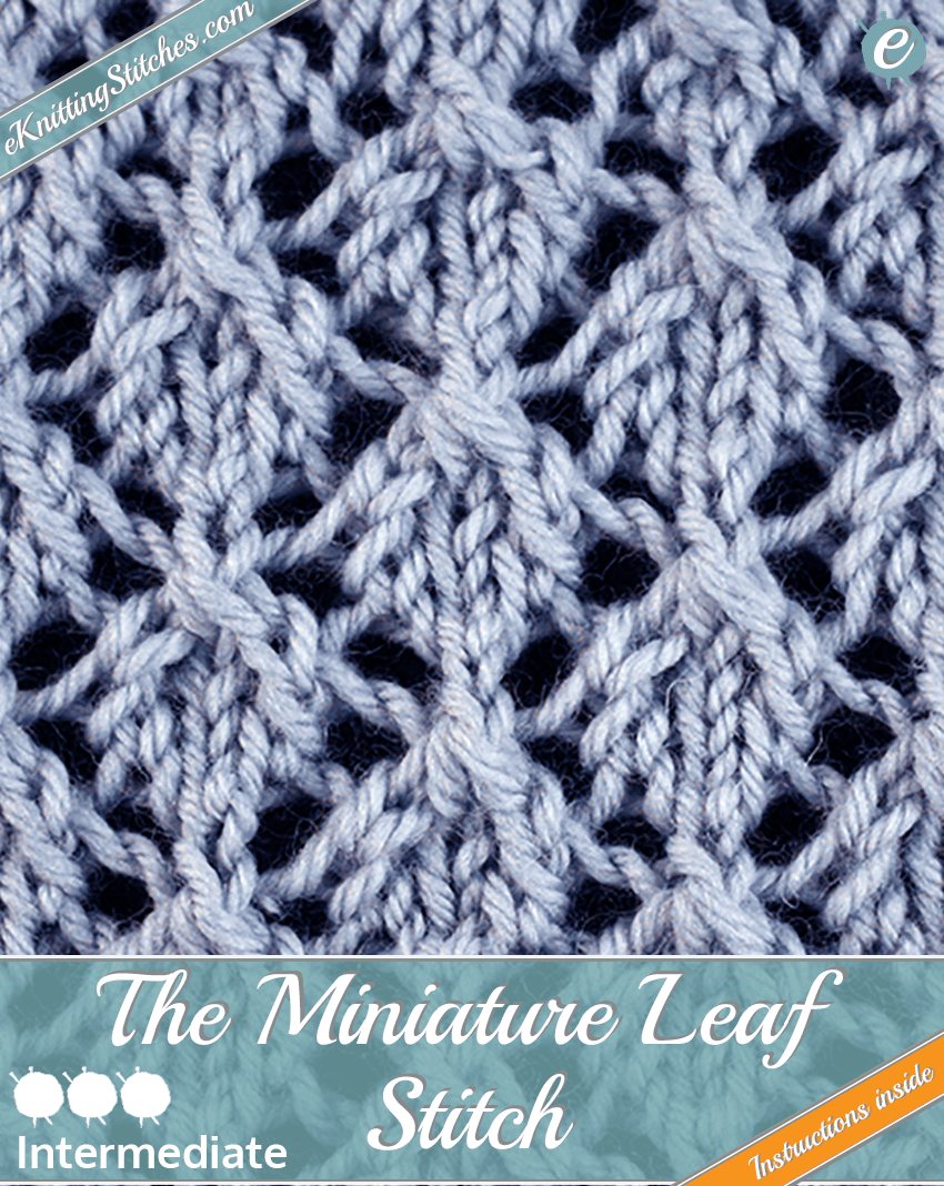 Miniature Leaf Stitch example & Title Slide for