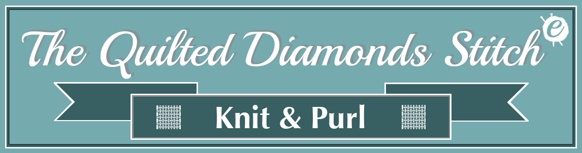 The Quilted Diamonds Stitch Banner Title