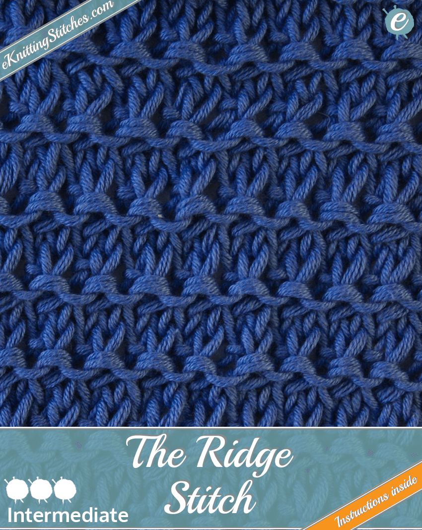 Ridge Stitch example & Title Slide for