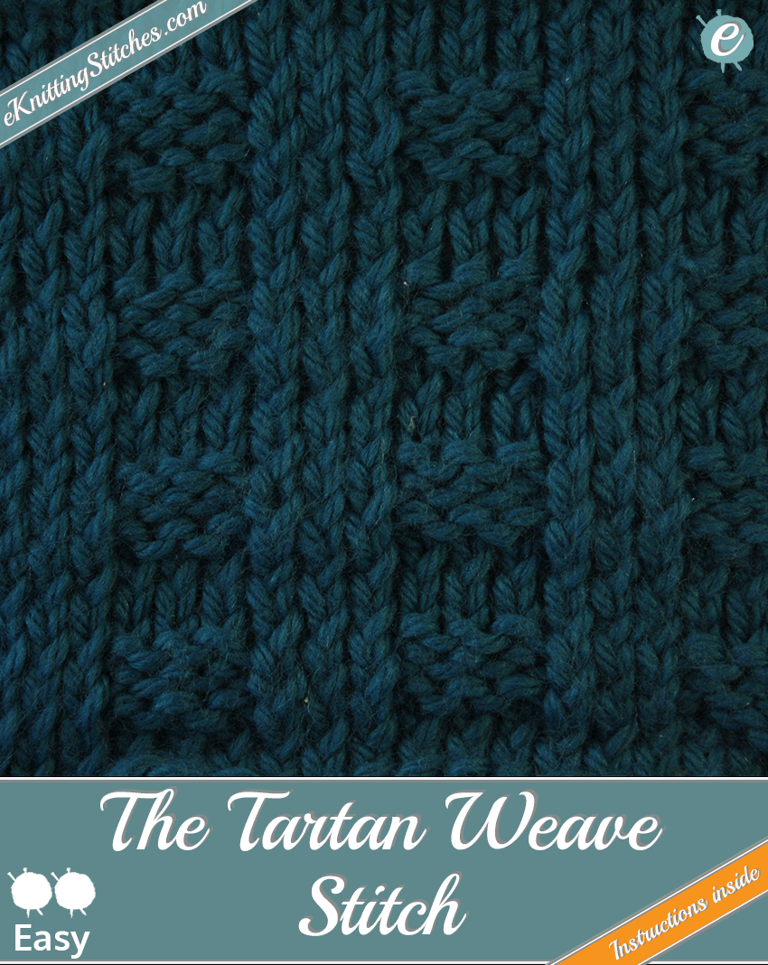 Tartan Weave Stitch example & Title Slide for