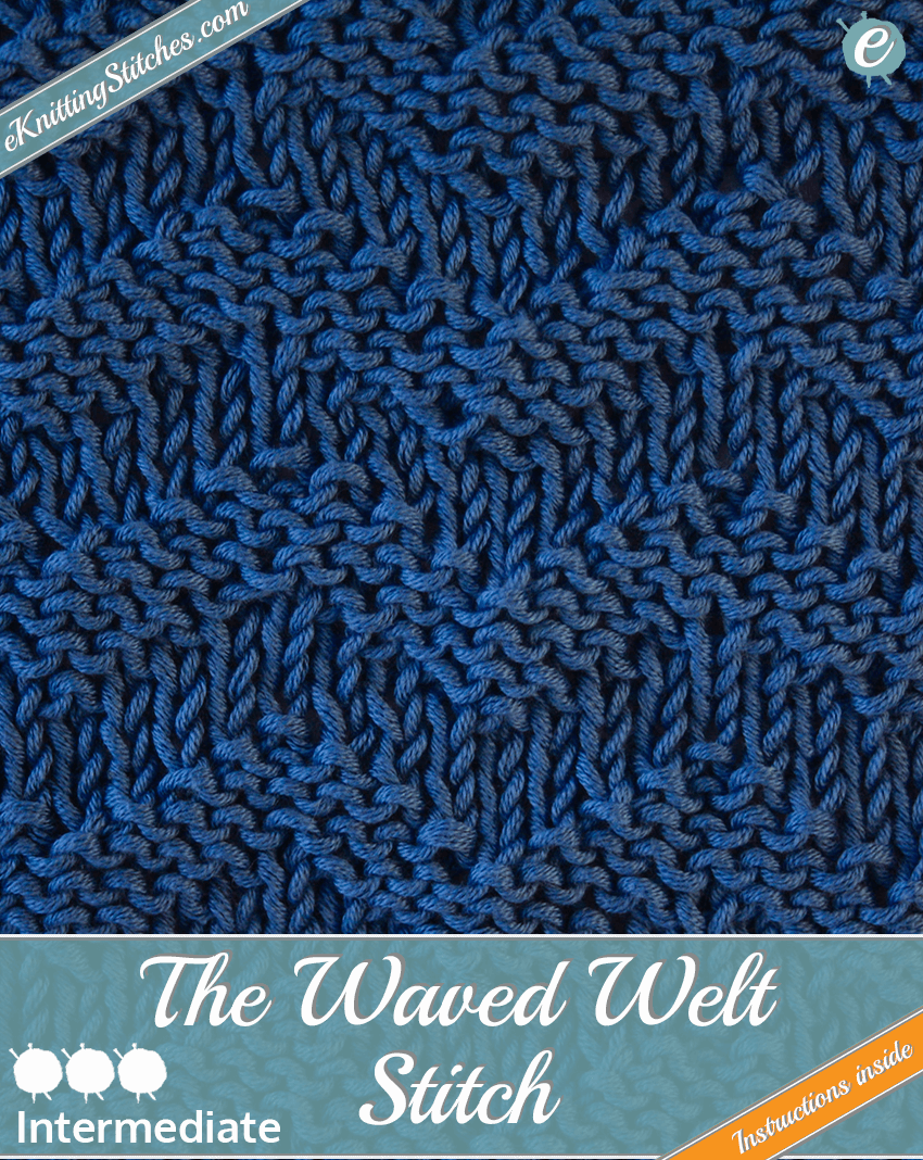 Waved Welt Stitch example & Title Slide for