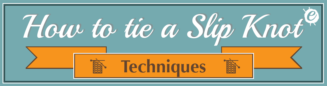How to tie a slip knot banner title